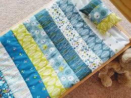 doll blanket patchwork bedding set for