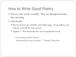 How To Write Good Poetry Magdalene Project Org