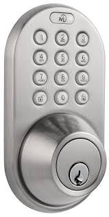 Decorating electronic keyless door lock pictures : MiLocks DF-02SN Electronic Keyless Entry Touchpad Deadbolt Door ...