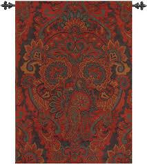 persian paisley tapestry wall hanging