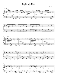 The Doors Light My Fire Chords Light My Fire Sheet Music For Organ Download Free In Pdf Or Midi