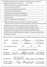 Составление отзыва на ДП ДР  Рисунок 2 2 Пример оформления задания на выполнение ДП ДР