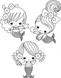 Cute Mermaid Coloring Pages Color Chronicles Network