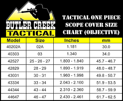 Butler Creek Scope Caps Chart Butler Creek 28 29 Objective Multiflex Living Hinge Scope Cover