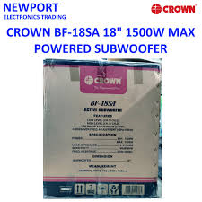 Crown BF-18SA 18 Inches 1500W Powered or Active Subwoofer