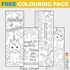 Print off the two black and white copies and have 6 bookmarks to color, personalize and laminate to use over and over again! Free Unicorn Coloring Bookmarks To Print Craft With Sarah