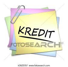 memo kredit stock illustration of german memo with paper clip kredit k3523757