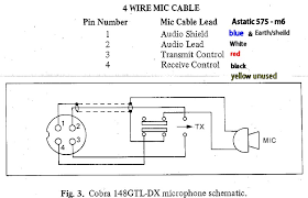 mic wiring diagram for astatic 575 m6 to cobra speckog advertisements