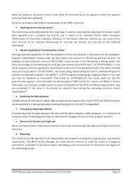 Monitoring and evaluation resume