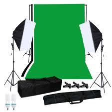 a set of photography softbox lighting kit