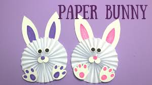 how to make a paper bunny easy easter crafts for kids