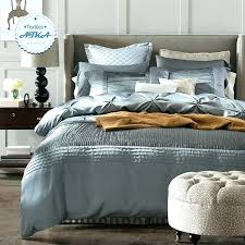 full image for luxury silk cotton bedding sets duvet cover bed set the linen blue red