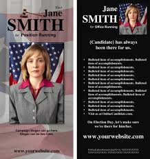 Campaign Brochure Online Candidate Now Offering Political Brochure Templates