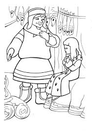 De Lapse Vrouw Die Onderdak Biedt Aan Gerda En Bae Kleurplaat