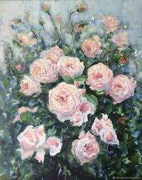 oil painting delicate roses impressionism oil painting for a gift to oil painting flowers oil
