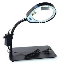 10x magnifying lamp pd desktop magnifying glass with light brightness adjule led table lamp magnifying glass