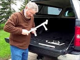 An inexpensive pickup truck bed bike rack. - YouTube