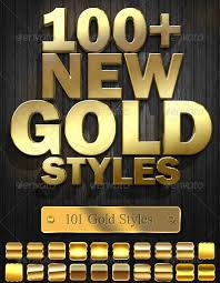 Photoshop Gold Style Collection 2019 Psddude