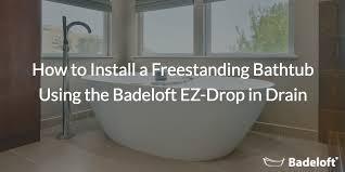 freestanding bathtub installation