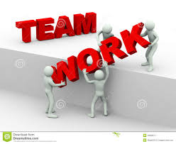 working as a team 3d people concept of team work stock illustration illustration