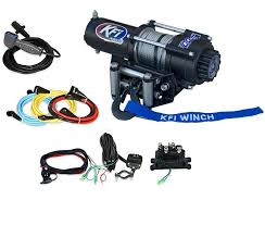 kfi 3000 lb winch sidebysidestuff com kfi 3000 lb winch w optional mount