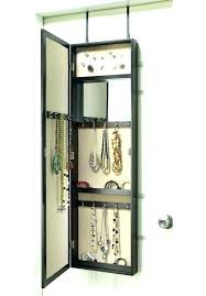 wall hanging jewelry armoire over the door hanging jewelry jewelry white with mirror hanging jewelry box
