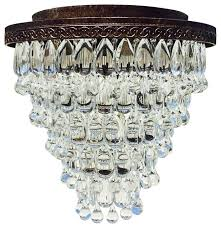 lightupmyhome com the weston 7 light flush mount glass drop chandelier
