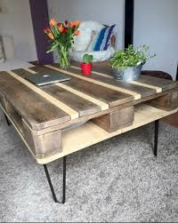 Reclaimed Pallet Coffee Table  Pallet IdeasPallet Coffee Table Plans