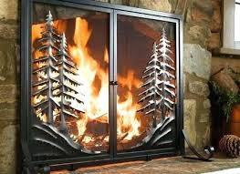 fireplace screens with glass doors fireplace screen home depot home depot fireplace screen wood burning glass