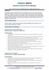 Resumes Samples For Customer Service Customer Service Manager Resume Samples Qwikresume