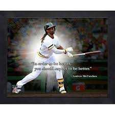 Pittsburgh Pirates Andrew McCutchen 40x40 Inch Black Wood Framed Pro Stunning Pittsburgh Quotes