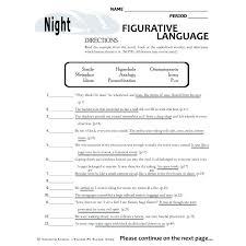 literal language literal vs nonliteral language worksheets language