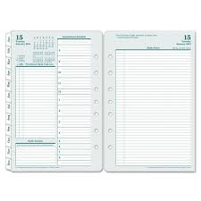 daily planning calendar franklincovey original dated daily planner refill january december 5 1 2 x 8 1 2 2019