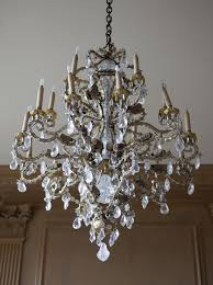 a baroque style rock crystal and cut glass mounted rock crystal and gilt metal eighteen