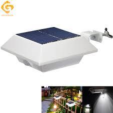 Go Ocean Solar Lamps Led Solar Lights Ip44 Pir Motion Sensor Panel