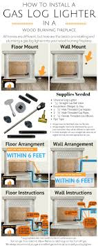 convert wood burning fireplace to gas. INFOGRAPHIC -How To Install A Gas Log Lighter In Wood Burning Fireplace. Convert Fireplace N