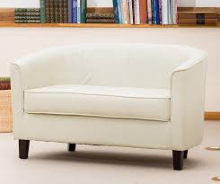 sofa collection brand new abbeville 2 seat tub chair sofa seating faux leather cream 66 x 118 x 71 cm co uk kitchen home