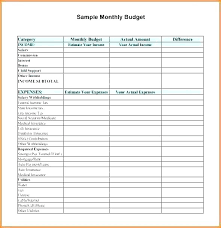 Easy Monthly Budget Template Basic Home Budget Template Simple Home Budget Template