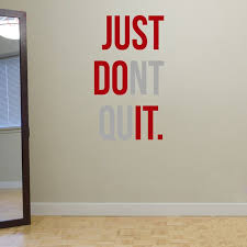 just dont quit gym workout motivation quote words vinyl wall art sticker wallpaper mural home decoration just do it in wall stickers from home garden on  on vinyl wall art words stickers with just dont quit gym workout motivation quote words vinyl wall art