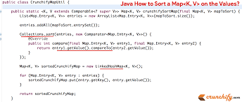 in java how to sort a map on the values the map interface  java