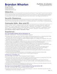 Security Job Objectives For Resumes Resume For Study