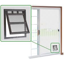 details about small pet patio screen 2 way access door snap flap