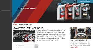 Access Mail Valvoline Com Coupons Promotions Valvoline