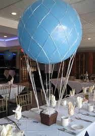 DIY Hot Air Balloon Centerpiece | Balloon centerpieces, Hot air balloons  and Air balloon