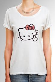 Hello Kitty Size Chart Hello Kitty Shirt With Middle Finger Adult Design Size