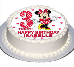 Personalised Mickey or Minnie Mouse Cake Topper with Any Name on