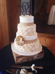 Designer Cakes By Amy Elegant Rustic Wedding Cake Idea With Burlap And Buttercream