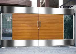 Small Picture modern boundary wall designs with gate Google Search STEEL