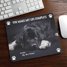 dels about black newfoundland mouse pad rubber mat newfs dog portrait art memorial gift