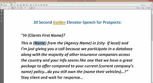 Elavator Speech Joes 30 Second Golden Elevator Speech For Prospects Joe Davis